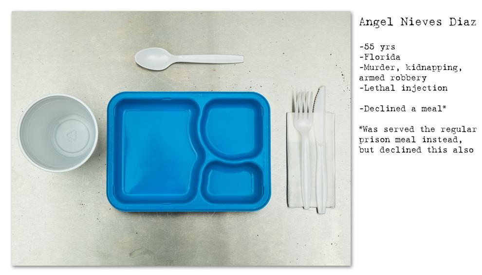 - Angel Nieves Diaz - 55 anos - Assassinato, sequestro, assalto a mão armada - Injeção letal - Recusou a refeição
