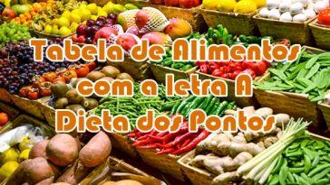 alimentos letra A dieta dos pontos