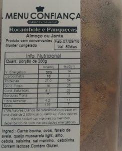 Vem tudo bem explicadinho, tabela nutricional, data de validade e ingredientes